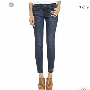 $228 Current/Elliott raw hem skinny jeans